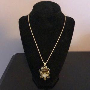 Jewelry - Gorgeous Cats Eye, Moonstone and Citrine Pendant
